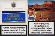 Golden American - SE Advertising - American Cigarette Company (Blue) (French warning, EU2, 24 cig.)