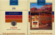 Golden American - SE Advertising - 25 Lights American Cigarette Company (French warning)