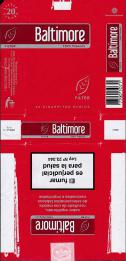 BALTIMORE 100% Tobacco Filter 20 Cigarritos Rubios