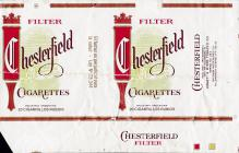 CHESTERFIELD Filter Cigarettes Industria Argentina 20 Cigarrillos Rubios