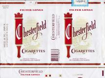 CHESTERFIELD Filter Longs Cigarettes Industria Argentina 20 Cigarrillos Rubios