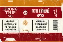 Krong Thip 90 Thailand Tobacco Monoply (Thai warning, whitw01)